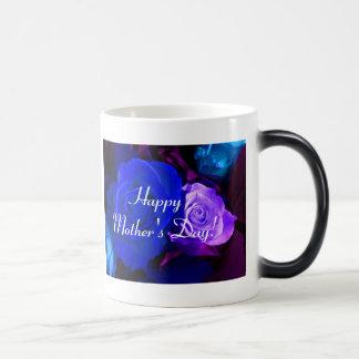 幸せ|母|日|青い|紫色|上がりました|IV モーフィングマグカップ