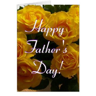 幸せ 父 日 黄色 バラ I カード