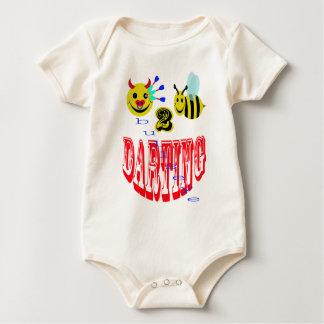幸せ、2匹の蜂の放つこと ベビーボディスーツ