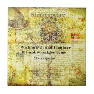 幸福および笑い声についてのシェークスピアの引用文 タイル