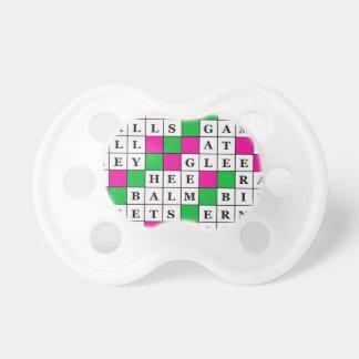 幸福および運のクロスワードパズル おしゃぶり