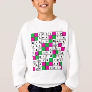 幸福および運のクロスワードパズル スウェットシャツ