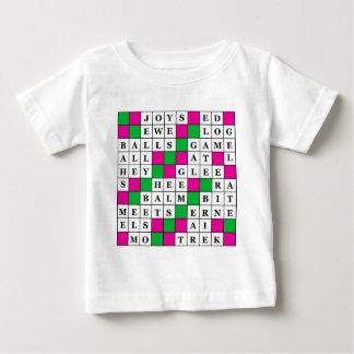 幸福および運のクロスワードパズル ベビーTシャツ