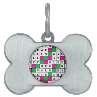 幸福および運のクロスワードパズル ペットIDタグ