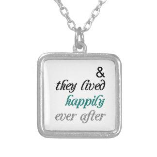 幸福にその後ずっとネックレス シルバープレートネックレス