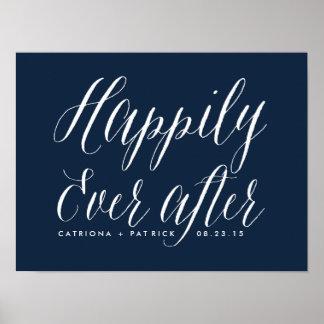 幸福にその後ずっとポスター|海軍を結婚すること プリント