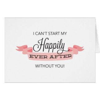 幸福にその後ずっと私の新婦付添人カードです カード