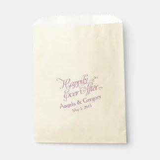 幸福にその後ずっと紫色の結婚式の引き出物 フェイバーバッグ
