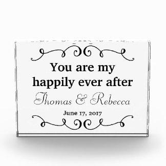 幸福にその後ずっと|の結婚の日付 フォトブロック