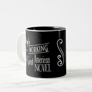 幸福に働くか、または小説 ツートーンマグカップ