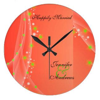 幸福に最近のための結婚したな結婚式の時計は結婚します ラージ壁時計