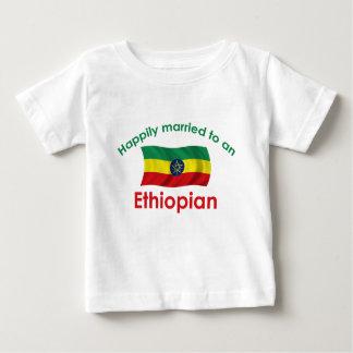 幸福に結婚したなエチオピア ベビーTシャツ