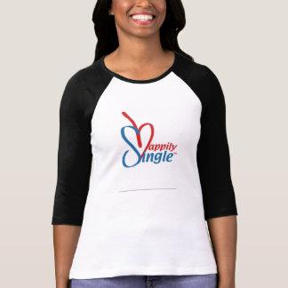 幸福にSingle™の女の子; 愛のスマイル2Fallとの Tシャツ