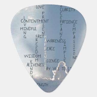 幸福のために住む感動的な単語 ギターピック