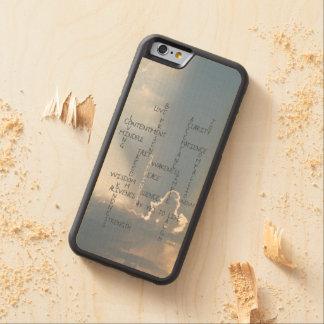 幸福のために住む感動的な単語 CarvedメープルiPhone 6バンパーケース
