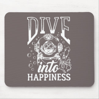 幸福のやる気を起こさせるなスキューバダイビングに潜って下さい マウスパッド
