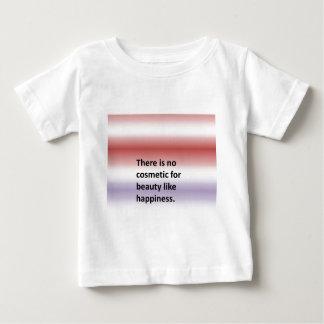 幸福のような美しいのための化粧品がありません ベビーTシャツ