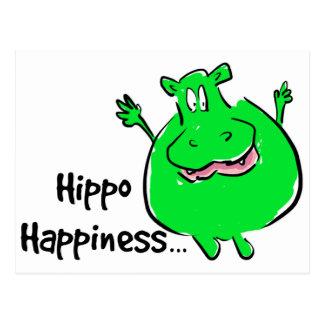 幸福のカバ-郵便はがき ポストカード