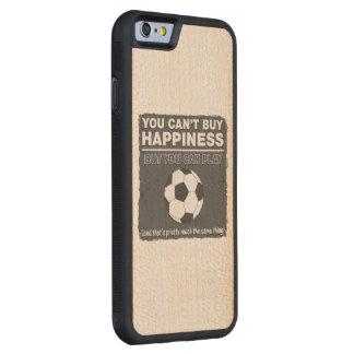 幸福のサッカーを買うことができません CarvedメープルiPhone 6バンパーケース