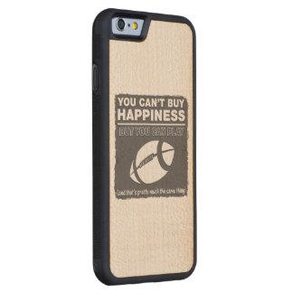 幸福のフットボールを買うことができません CarvedメープルiPhone 6バンパーケース