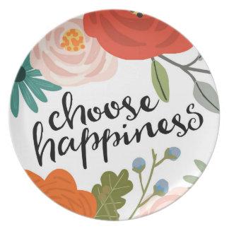 幸福のメラミンプレートを選んで下さい プレート