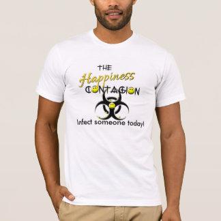 幸福の伝染の伝染性のスマイルの人 Tシャツ