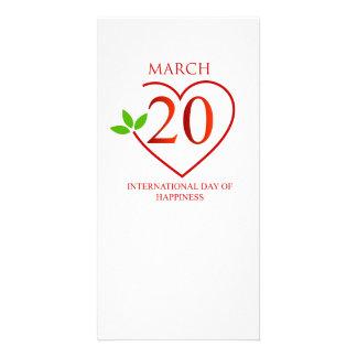 幸福の国際的な日 カード