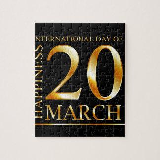 幸福の国際的な日 ジグソーパズル