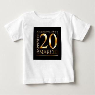 幸福の国際的な日 ベビーTシャツ