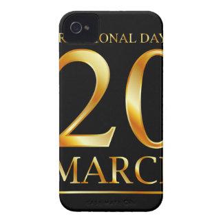 幸福の国際的な日 Case-Mate iPhone 4 ケース