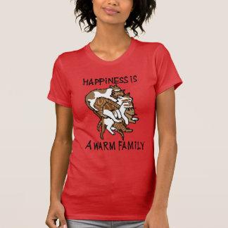 幸福の女性のTシャツ Tシャツ