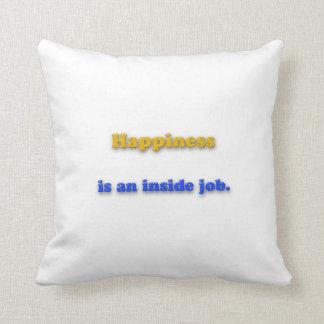 幸福の引用文-幸福は中仕事です クッション