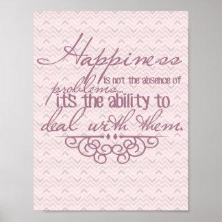 幸福の感動的なポスター ポスター