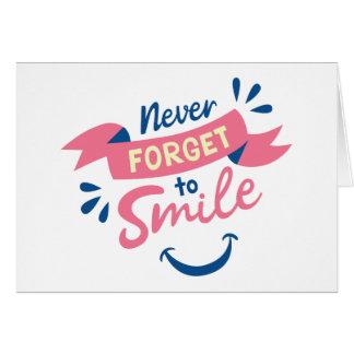幸福の態度のスマイルこんにちは、あなたの考えること カード