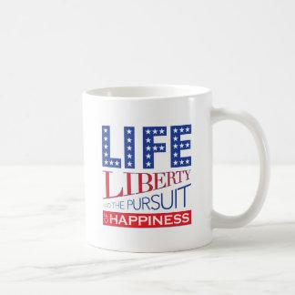 幸福の生命、自由および追求 コーヒーマグカップ