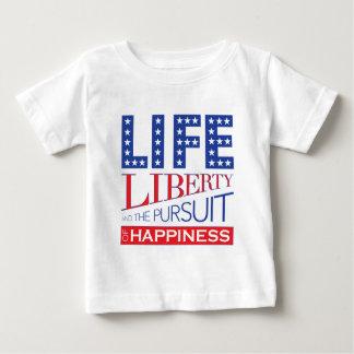 幸福の生命、自由および追求 ベビーTシャツ