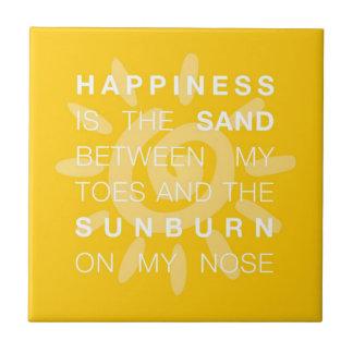 幸福の砂及び日曜日のタイル 正方形タイル小