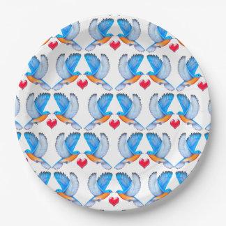 幸福の紙皿のブルーバード ペーパープレート