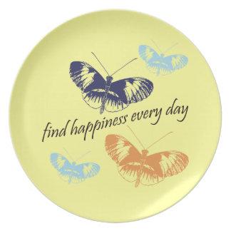 幸福の蝶 プレート