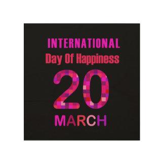 幸福の記念する日の国際的な日 ウッドウォールアート