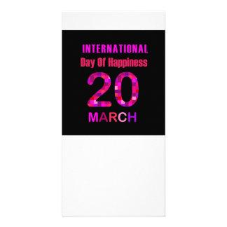 幸福の記念する日の国際的な日 カード