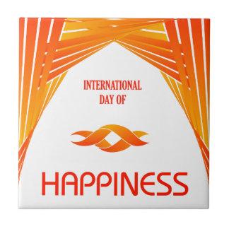 幸福の記念する日の国際的な日 タイル