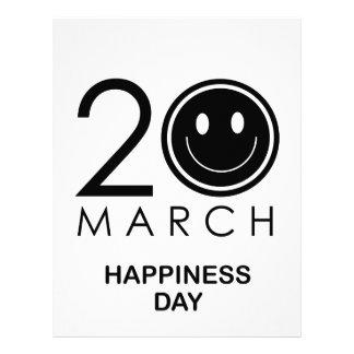 幸福の記念する日の国際的な日 レターヘッド