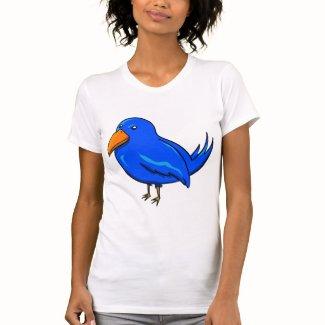 幸福の青い鳥 レディースTシャツ