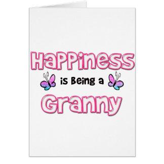 幸福はおばあさんです カード