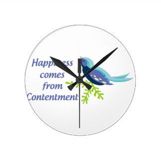 幸福はから来ます ラウンド壁時計