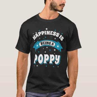 幸福はケシです Tシャツ