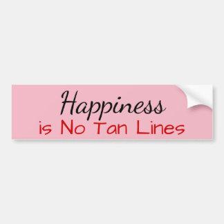 幸福はタンラインではないです バンパーステッカー