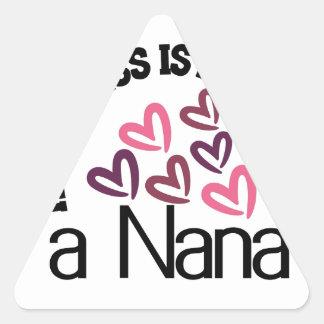 幸福はナナです 三角形シール