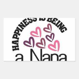 幸福はナナです 長方形シール